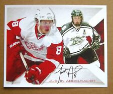 Detroit Red Wings /MSU Justin Abdelkader Signed / Autograph 8 x 10 photo-COPY