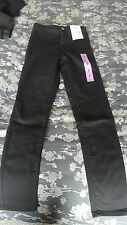DENIM CO SKINNY JEANS HIGH WAISTED  COLOUR: BLACK   SIZE UK 6
