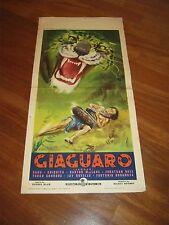 LOCANDINA,1956,GIAGUARO,JAGUAR,MacLane, Sabù,Chiquita Blair