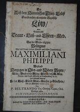 Tod von Maximilian Philipp, Herzog in Bayern – Augsburg 1706