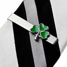 Shamrock Irish Tie Clip - Tie Clasp - Business Gift - Handmade - Gift Box