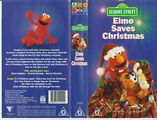 Vhs * SESAME STREET - Elmon Saves Christmas * 1996 ABC For Kids Issue Jim Henson