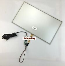 """15.6"""" Touch Digitizer Glass 209x358.5mm 8.23x14.11"""" 4Wire Screen Panel USB Kit"""