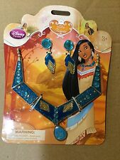 NWT DISNEY STORE PRINCESS POCAHONTAS COSTUME JEWELRY SET EARRINGS NECKLACE
