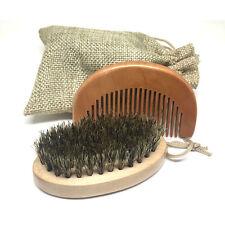 Boar Bristle Beard Brush and Comb, Beard Comb Kit Mens Grooming Kit Free UK P&P