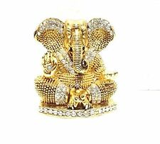 D4P Ganesh Idol Diamond Stone Studded FOR CAR FRONT