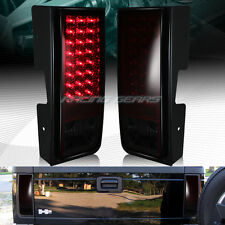 FOR HUMMER H2 RED/SMOKE LENS LED REAR BRAKE STOP TAIL LIGHTS LAMPS PAIRS LH+RH