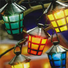 20 LED Coloured Party Lantern Garden Xmas Lights Festive Outdoor String Fairy