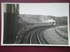 POSTCARD DOUBLE HEADER LNER TRAIN VIEW FROM THE CARRIAGE