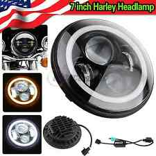 7inch Round CREE LED Headlight Halo Ring Angel Eyes DRL Light : Jeep Wrangler JK