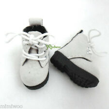 "Mimi Collection 12"" Blythe Pullip Momoko Obitsu Doll Shoes Velvet Boots Lt.Grey"