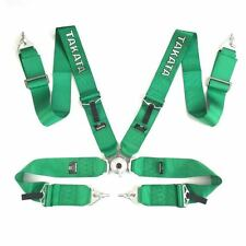 Universal Green 4 Point Camlock Quick Release Racing Seat Belt Harness Takata