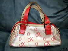 signature XOXO multi-pink Satchel PURSE/handbag~clean inside and out