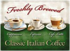 Coffee, Cappuccino, Espresso, Latte, Cafe or Restaurant, Novelty Fridge Magnet