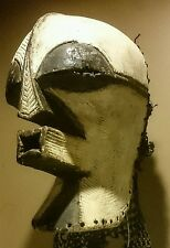 GENUINE WORN DANCED female songye kifwebe RARE african tribal mask