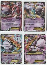 4x LOT Pokemon BREAKTHROUGH Ex Mega MEWTWO 64/162 + 63/162 + 62/162 + 61/162