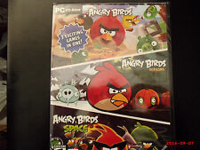 ANGRY BIRDS, SEASONS, SPACE, PC CD-ROM 3 EXCITING GAMES IN ONE BRAND NEW