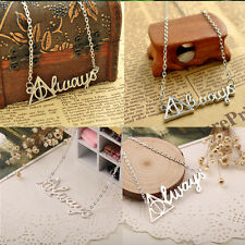 Deathly Hallows Fashion Triangle Necklace Vintage Retro Always Letter Necklace