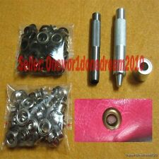 12MM Inner Hole Grommet Installation Setting Tool Kit Set + Hole Punch +80Eyelet