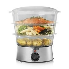 Tower 3 Tier Kitchen Stainless Steel Electric Steamer Food Steam Cook 5.5 Litre