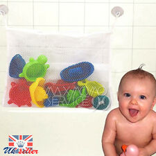 UK Kids Baby Bath Time Toy Tidy Storage Suction Cup Bag Mesh Shower Bathroom Net