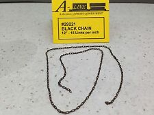 "HO 1/87 A-Line # 29221 Black Chain 12"" - 15 Links per inch"