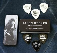 Jason Becker Pick Tin With 6 POOPING PUPPY Jason Becker Guitar Picks