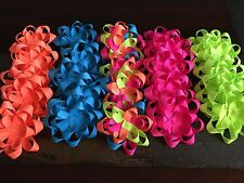 Unfinished Hair Bows Lot Of 25 NEONS