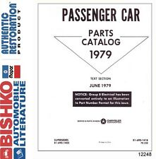 1979 Mopar Chrysler Dodge Plymouth Parts Numbers CD List Interchange Drawings