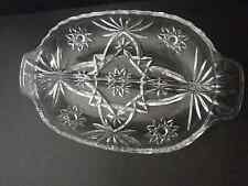 Vintage Star of David  oval divided dish Anchor Hocking in middle 6 1/4 x 10 w
