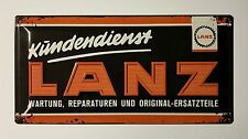 Lanz Kundendienst Tractor - Tin Metal Wall Sign