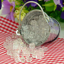 FD3397 Dollhouse Miniature Ice Cube Home Kitchen Bar Ornament 1:12 Scale 1 Bag ^