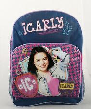 "Brand New Character iCarly School Large 16"" Backpack Girls large Bag"