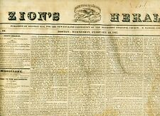 Newspaper President Elect John Quincy Adams- a Road To Mexico-Pirates 1825