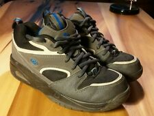 HEELYS MENS SIZE 7 BLACK Gray Blue NO WHEELS Shoes Air Pocket