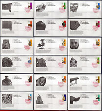 2488-2505FD MEXICO 2005 - FOLK ART, DEFINITIVE, SET COMPLETE, FDC