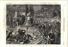 1862 Nero After Burning Rome Carl Piloty