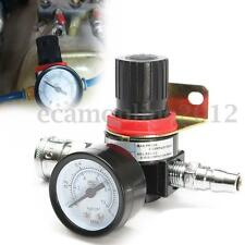 "1/4"" Inch Air Pressure Regulator Compressor with Gauge Regulating Control Valve"