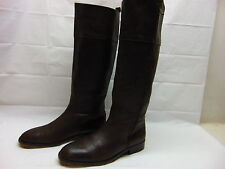Zara Basic Womens 42 / 11.5 Brown Pebbled leather Zip Up Riding Equestrian Boots
