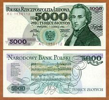 Poland, 5000 (5,000) Zlotych, 1982, P-150a, Unc Composer Chopin
