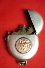 Antikes Feuerzeug SELTEN Silber Gold Anhänger lighter silver pocket Münze A JP
