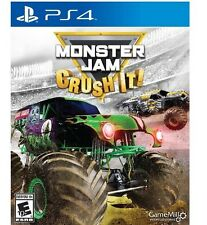PS4 Monster Jam Crush It! Grave Digger NEW Sealed Kids Game