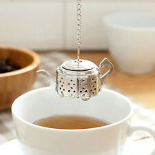 Cool Stainless Steel Teapot Spoon Tea Infuser Strainer Filter Diffuser+Tray New