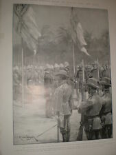 The Division of New Guinea in 1885 German and British salutes 1903 print ref X