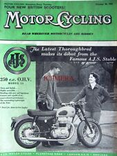 Oct 30 1958 A.J.S. 'Model 14 250cc' Motor Cycle ADVERT - Magazine Cover Print