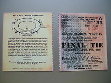 1950 F.A. cup final ticket arsenal et liverpool mint condition