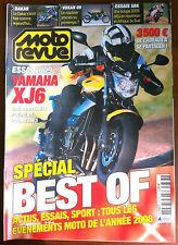 MOTO REVUE du 12/2008; Essai Yamha XJ6/ Spécial Best Of Essai, sport, actu