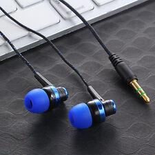 In-Ear Stereo Headset Earphone Headphone For iPhone Samsung Galaxy iPod MP3 Blue
