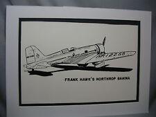 Frank Hawks Northrop Gamma National Air Racer Traveling Exhibit For Alaska Buyer