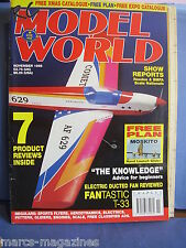 RCMW RC MODEL WORLD NOVEMBER 1998 MOSKITO HAND GLIDER PLAN ASHLEY TAYLOR TRAINER